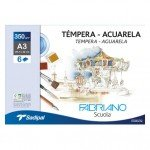 Fabriano Aquarela, (minipack) 6 f., 350 gr., 24x32cm (A4+)