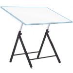Mesa de desenho ajustável para alunos com hastes, 80x120 cm.