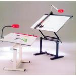 Mesa de desenho profissional com moldura, 120x80 cm.