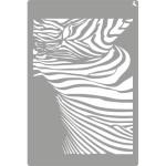 Stencil 09 Zebra 20x30cm. La Pajarita