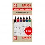 Set 6 marcadores Pigma Calligrapher Pen 1mm Sakura