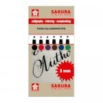 Set 6 marcadores Pigma Calligrapher Pen 3mm Sakura