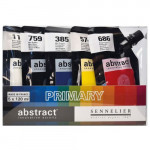 Conjunto Abstract Primary, 5 cores, 120 ml. Sennelier