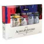 Set Acrílico Studio Vallejo 5 cores (200 ml)