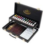 Conjunto de aquarela Sketching Black Series Caixa Madeira (28 peças), Royal&Langnickel