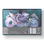 Conjunto de cartões postais decorativos Winsor & Newton