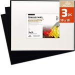 Cartao Entelado Preto - Prep. Universal, 20x20 cm. (Set 3pcs)