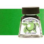 Tinta Desenho Verde Brilhante, Winsor & Newton, 14 ml.