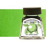 Tinta Desenho, Verde Maça, Winsor & Newton, 14 ml.