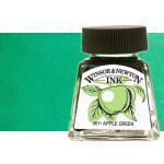 Tinta Dibujo Verde Esmeralda Winsor Newton, 14 ml.