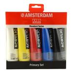 Conjunto Acrílico Amsterdam 5 cores (120 ml)