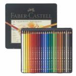 Caixa metal Lápis Cor POLYCHROMO, Faber Castell (24 cores)